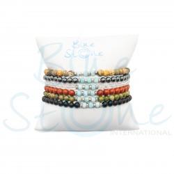 Conjunto de seis pulseras Blue Stone BRLA1914-6