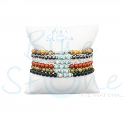 Lot de six bracelets Blue Stone BRLA1914-6